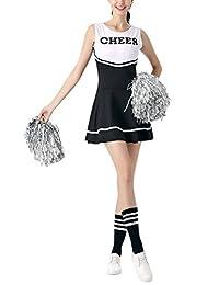 Girl Cheerleading Team Costumes Sleeveless Dress World Cup Skirt