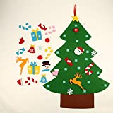 Ingzy 3FT DIY Felt Christmas Tree Set with 26 Detachable Ornaments Year Xmas Gifts for Kids Door Wall Hanging Decor