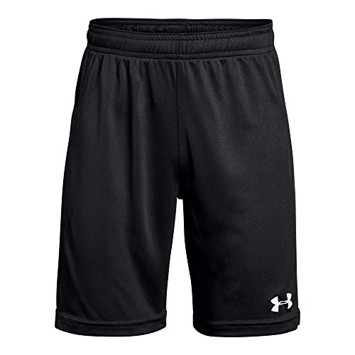 (Under Armour Boys Kids' Golazo 2.0 Shorts, Black, Youth Small, (001)/White)