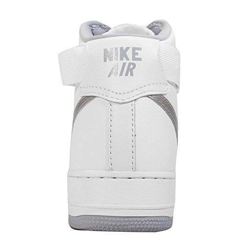 Nike Hommes Armée De Lair 1 Salut Qs Rétro, Sommet Blanc / Loup Gris, 10 M Us