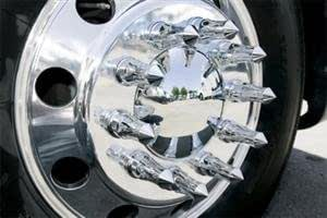 33mm Flanged 10 Chrome Pointed Lug Nut Covers
