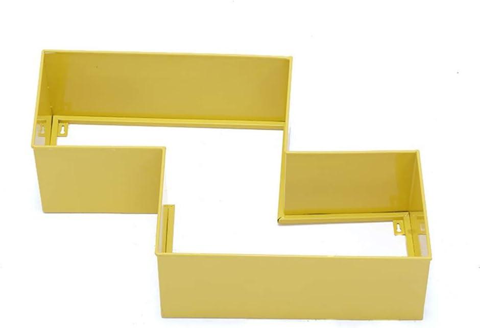 TEERWERE 기타 로프트 그리드 철 창조적인 격자 무료 조합 벽 선반 창의적인 장식적인 프레임 다기능 스토리지 랙 어쿠스틱 기타(색깔: 빨간 크기:솔리드)