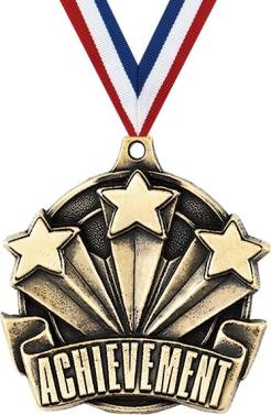 クラウンAwardsゴールドAchievement Star Medals – 2