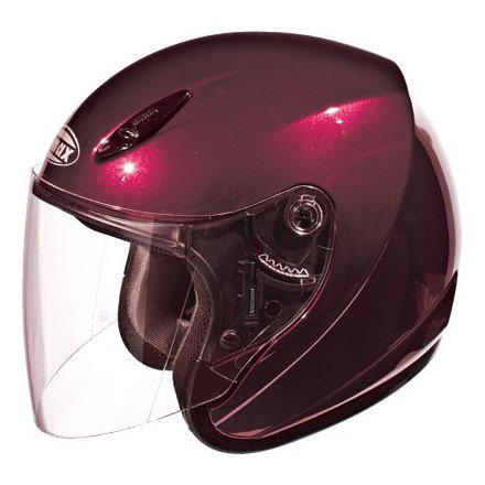 Helmet - Medium/Wine Red (Red Gm17 Open Face Helmet)