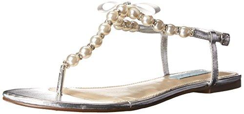 Betsey Johnson Sandal Blue SB Metal Women's Silver Pearl by rrwdSYxB