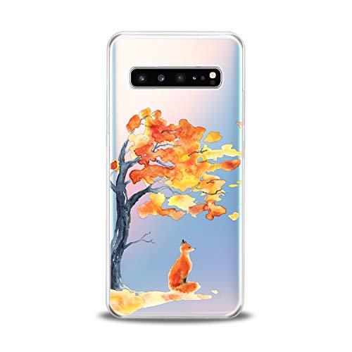 Lex Altern Samsung Galaxy TPU Case A9 A8s A7 A6s A5 C10 C9 Pro C7 C5 Cute Watercolor Orange Fox Clear Silicone Kawaii Animal Phone Cover Print Protective Lightweight Flexible Transparent Girly Women ()