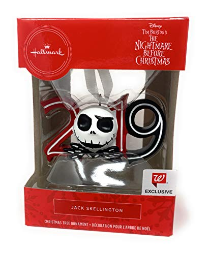 Hallmark - Disney Nightmare Before Christmas Jack Skellington 2019 Christmas Ornament 25 Years Anniversary (The Night 2019 Before Christmas)