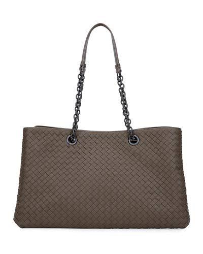 dabe8a013b42c Amazon.com: Bottega Veneta Intrecciato Double Chain Tote Bag Made in Italy:  Shoes