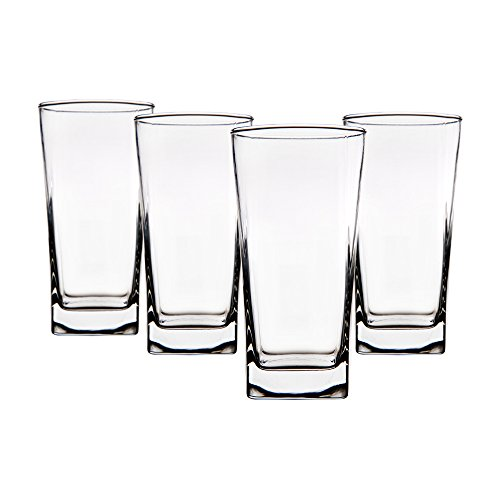 Red Square Highball Glass Set