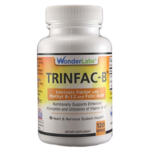 Intrinsic Factor with Folic Acid and Vitamin B-12 1000mcg - 120 Capsules