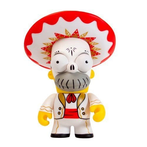 Kidrobot The Simpsons Homer Day of The Dead Mariachi Action Figure -