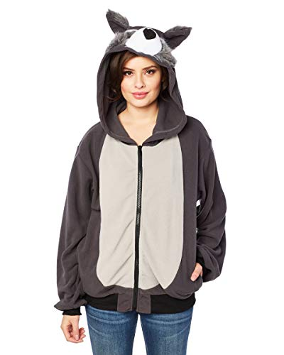 RG Costumes costume's Willie The Wolf Hoodie, Gray -