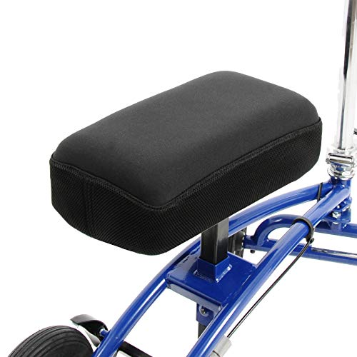 Knee Scooter Memory Foam - Two Inch Thick Memory Foam Knee Pad and Cover - Fits Most Knee Walker Models
