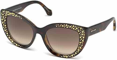 75e46eb5fc Sunglasses Roberto Cavalli RC 1050 Chitignano 52G dark havana   brown mirror