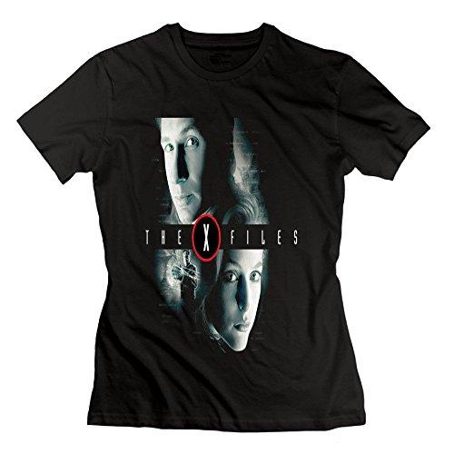 Youqian The X Files Mulder & Scully Women's T-Shirt XX-Large Black Womens
