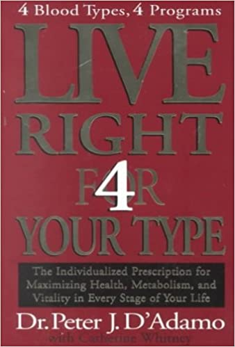 Live right 4 your type peter j dadamo amazon books fandeluxe Gallery