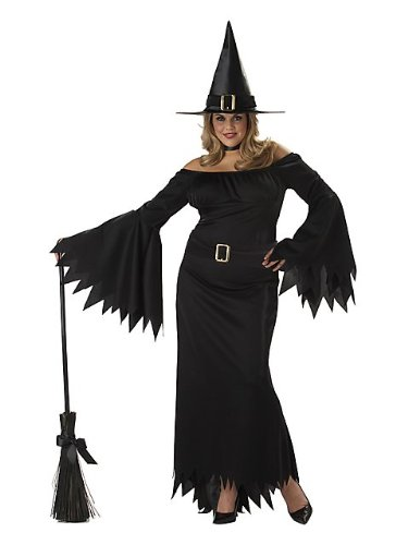 [California Costumes Women's Plus-Size Elegant Witch Plus, Black, 1X] (Witch Dresses)