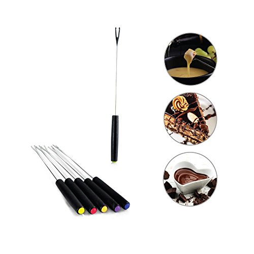 NutriChef Countertop Fondue Pot | Electric Fondue Set | Melting Pot Cooker | Chocolate Maker | Cheese Melting Pot | Electric 64oz  Fondue Melting Pot, Warmer - Includes 6 Forks - Black (PKFNMK23) by NutriChef (Image #3)