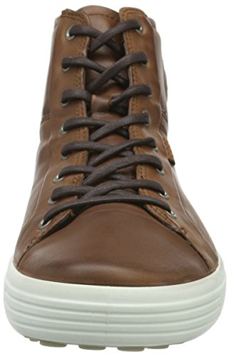 Ecco Mens Mjuk 7 Boot Mode Gymnastiksko Mahogny