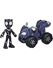 Spider-Man Marvel Spidey And His Amazing Friends Black Panther Action Figure And Panther Patroller Vehicle, For Kids Ages 3 And Up, Multicolour, F1943