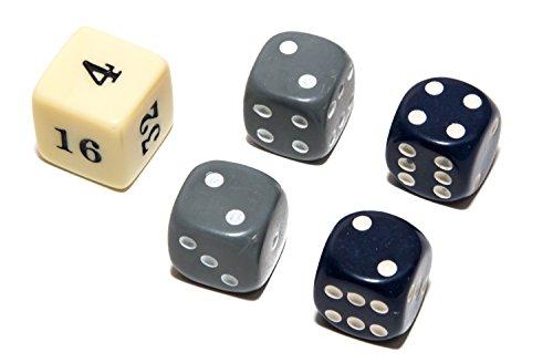 Bello Games Uria Stone Backgammon Dice Sets-Grey/Blue 5/8