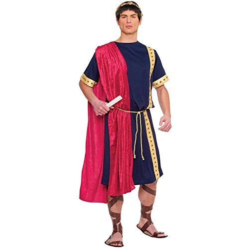 Costume Culture Men's Roman Senator Costume, Blue, Standard ()