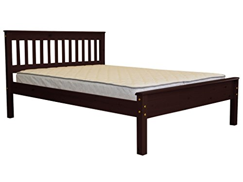 Cheap Bedz King Mission Style Full Bed, Cappuccino