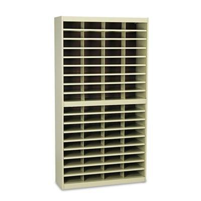 Safco 9241TSR Steel/Fiberboard E-Z Stor Sorter 72 Sections 37 1/2 x 12 3/4 x 71 Sand