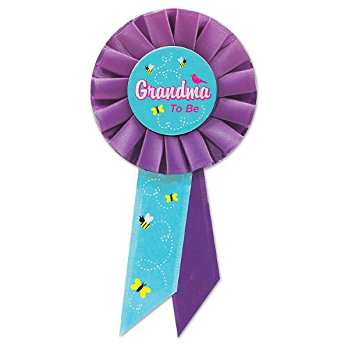 Beistle Grandma to be Rosette, 3 1/4 by 6 1/2-Inch, Multicolor]()