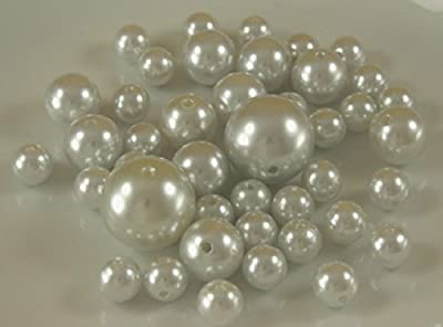 Wholesale Elegant Vase Fillers - Approx 42 Assorted Oversized Pearls Beads - Unique Decorative Gems