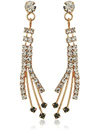 Angels & Wings Crystal Spray Linear Drop Earrings
