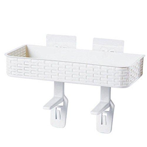 Pawaca Bathroom Storage Space Saver,Accessories,Adsorbent,No Bore,Multifunction,White by Pawaca