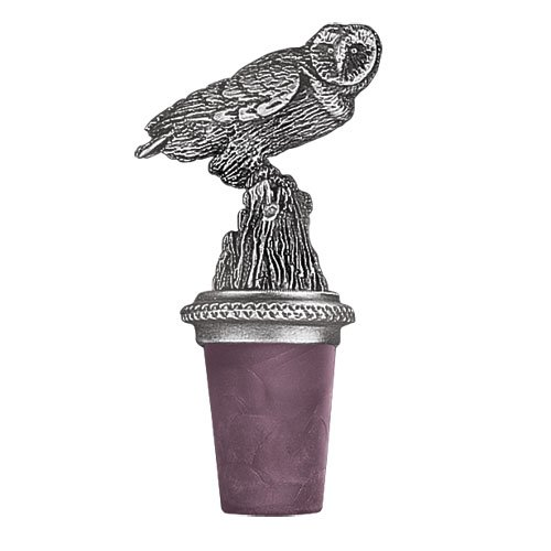 Pewter WINE BOTTLE STOPPER, OWL BOTTLE STOPPER