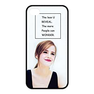 the Case Shop- Customized Emma Watson Quotes Actress TPU Rubber Case Cover Skin for iPhone 4 and iPhone 4S , i4xq-723