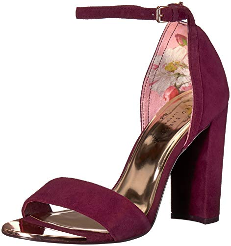 (Ted Baker Women's PHANDA Pump Burgundy Suede 9 Medium US)