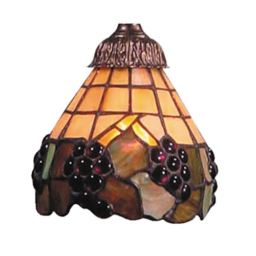 Alumbrada Collection Stained Honey Dune Glass Shade