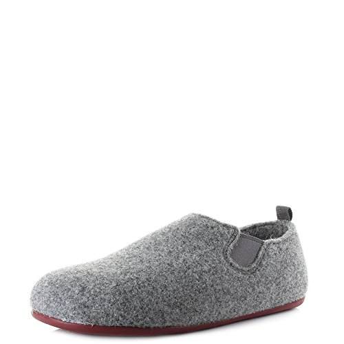 Camper Women Wabi Tweed Gris Dracular Red Grey Tweed Slippers Size 4