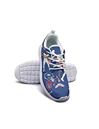 Fashion Sneakers Women for Women 13 Player Beckham Spring Skid-Proof Mesh Lace-Up Running Shoes