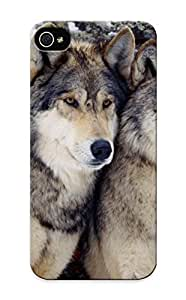 GmGkRxH3773AFDEJ New Premium Flip Case Cover Winter (season) Animals Wolves Skin Case For Iphone 5/5s As Christmas's Gift