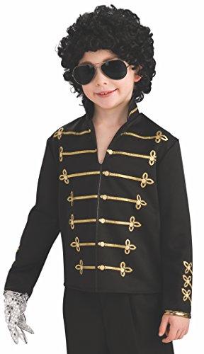 Michael Jackson Child's Value Military Jacket Costume Accessory, Medium, Black