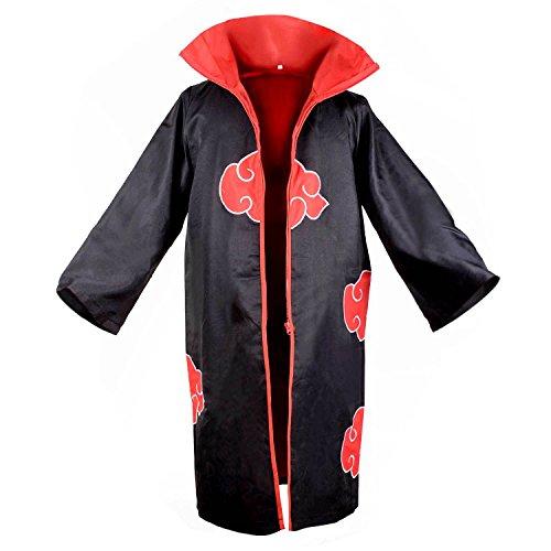 Cloak Naruto Akatsuki Organization Members Ninja Robe Hooded S -