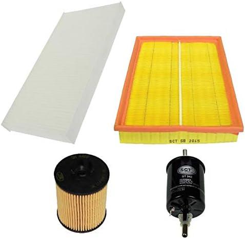 Inspektionspaket Wartungspaket Filterset 1 x /Ölfilter mit Dichtung 1 x Luftfilter 1 x Innenraumfilter 1 x Kraftstofffilter