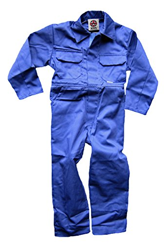WWK / WorkWear King Boy's Kids Childrens Boilersuit Coveralls Overalls (Size 32, 11-12 Years, Royal Blue)]()