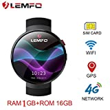 LEMFO LEM7 Smart Watch Phone 4G LTE - Android 7.1 MTK6737 1GB+16GB 2MP
