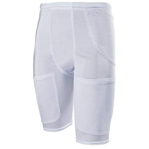 - Cramer Classic 5-Pocket Football Girdle w/ Drawstring Waist, Football Pants, Minimum Compression Girdles with Hip, Thigh, and Tailbone Pockets for Pads, Adult and Youth Football Gear, White