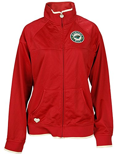 - Reebok NHL Women's Minnesota Wild Quilted Track Jacket, Red (XL)