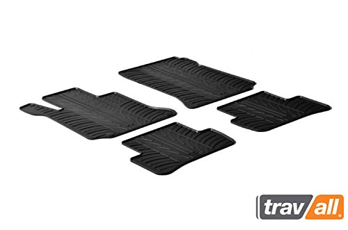 Travall Mats for Mercedes Benz C-Class Sedan or Wagon (2007-2014) TRM1155 - All-Weather Rubber Floor Liners (Mercedes C-class Sedan)