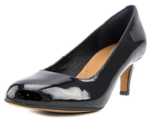 Clarks Women's Heavenly Heart Dress Pump Shoes,Black Patent Leather,11 by CLARKS