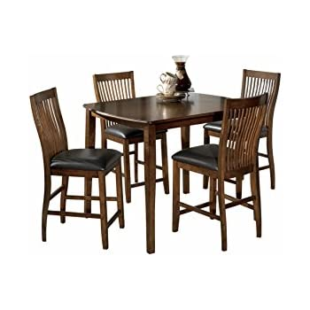 ashley furniture signature design stuman dining room table and barstools set counter height