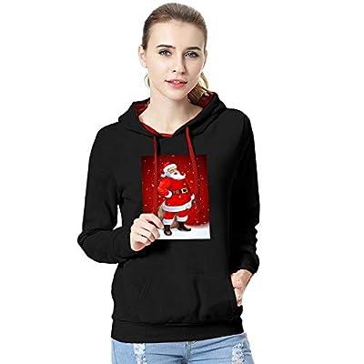 New Women's Winter Warm Coat, JMETRIE Christmas Santa Claus Printing Long Sleeve Hoodie Pullover Sweatshirt Blouse Jacket